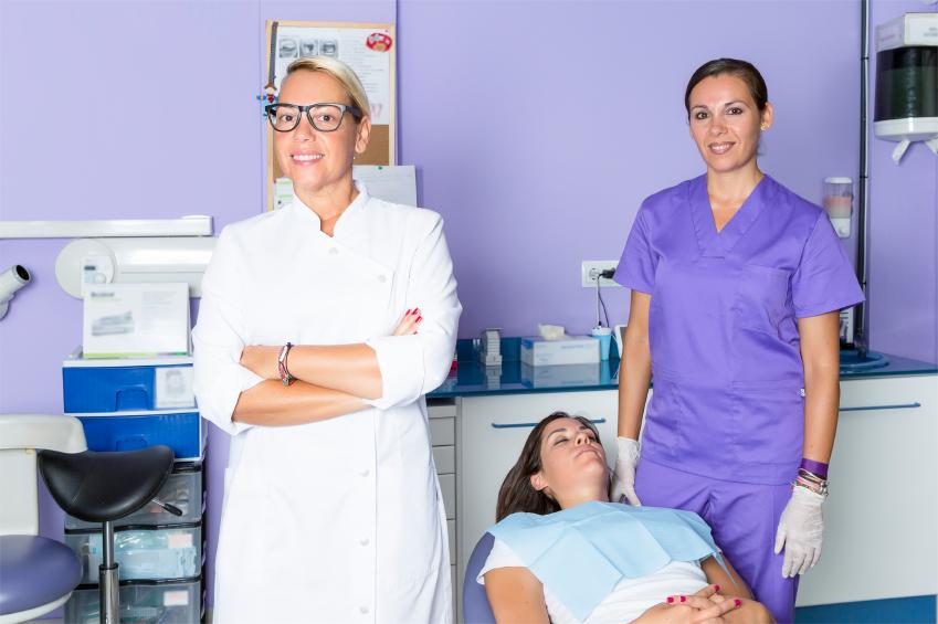dentist at the dental clinic