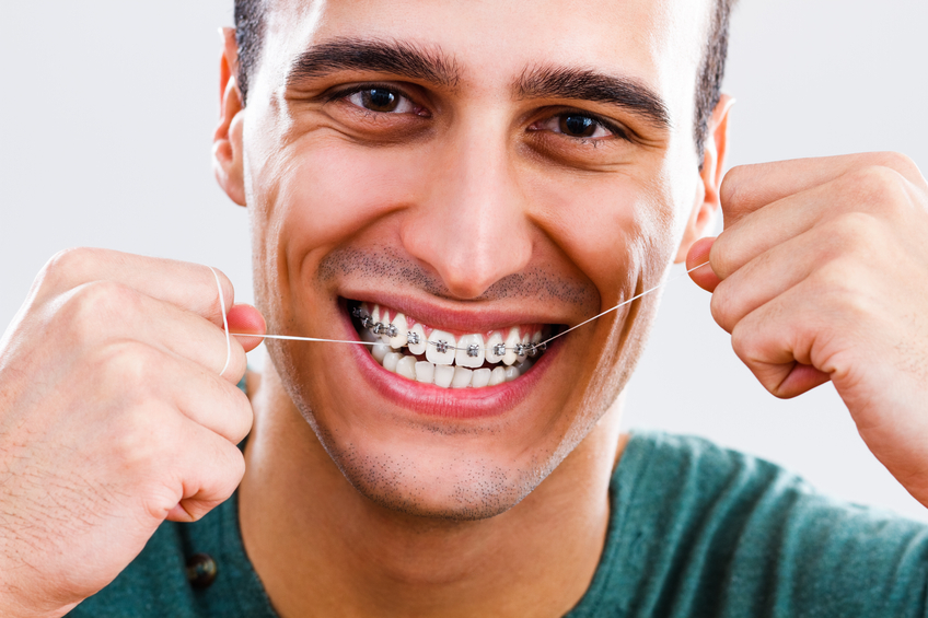 Flossing with braces is important, but takes more time