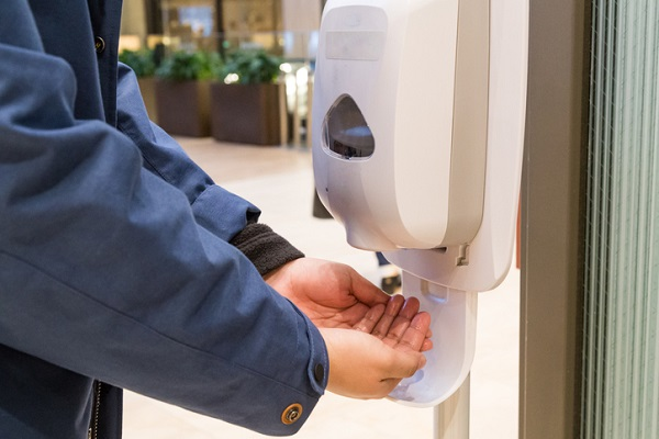 Use alcohol hand sanitizer regularly during your working day